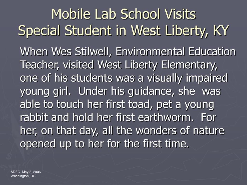 Mobile Lab School Visits