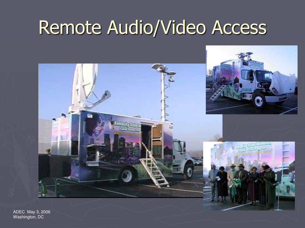 Remote Audio/Video Access