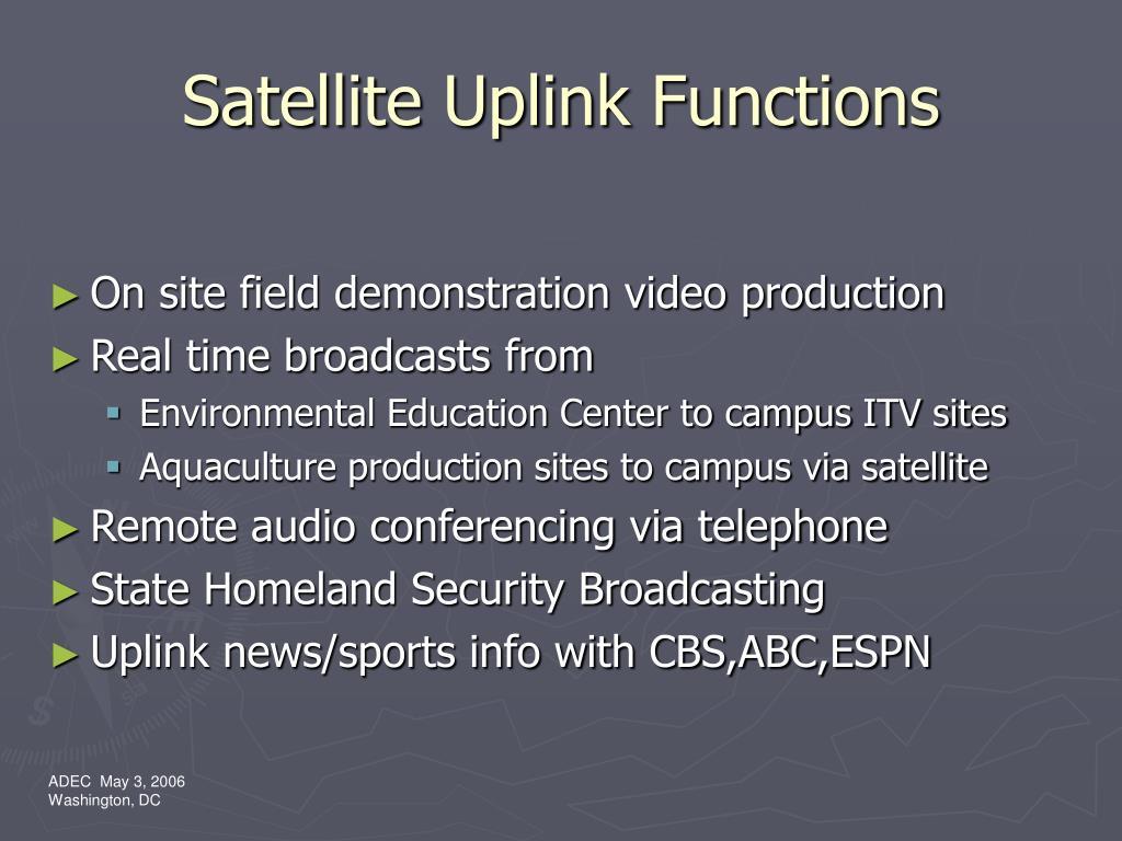 Satellite Uplink Functions