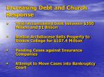 increasing debt and church response
