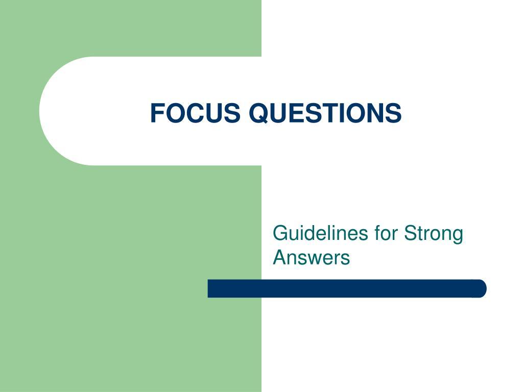 focus questions l.