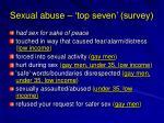 sexual abuse top seven survey