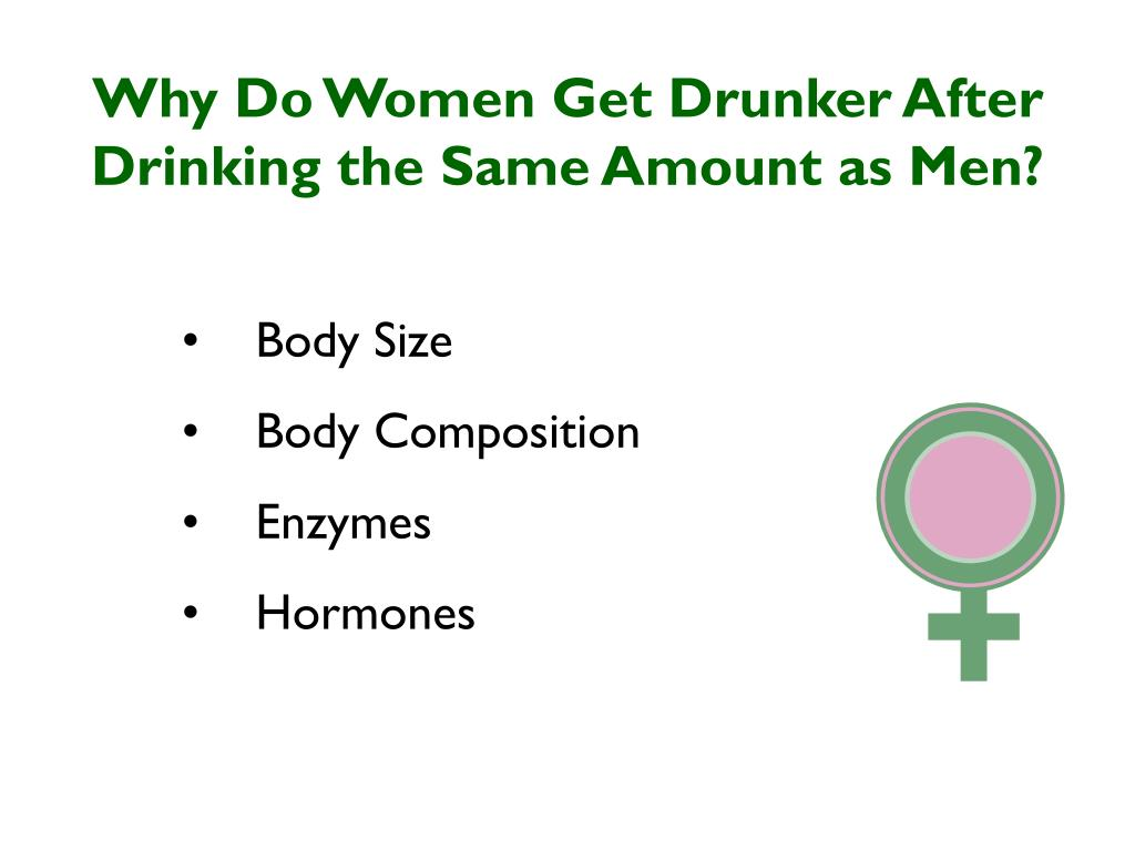 Why Do Women Get Drunker After Drinking the Same Amount as Men?