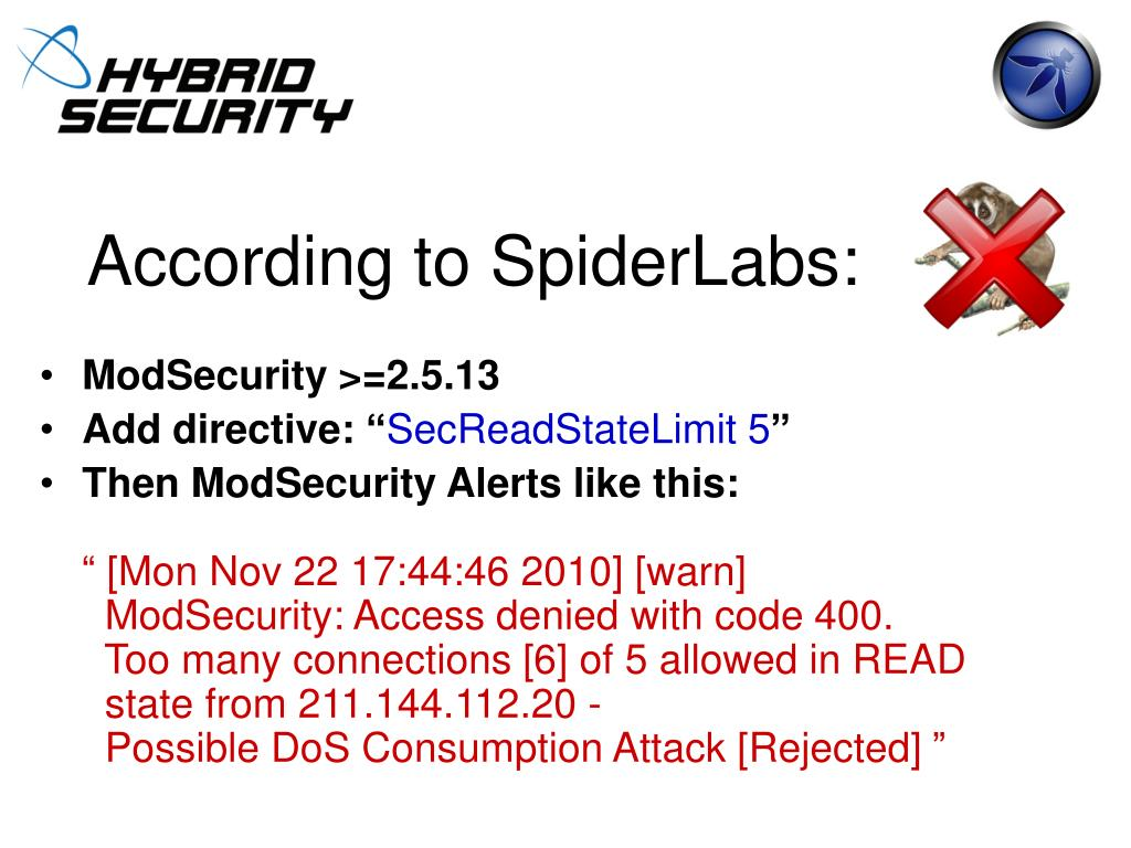 According to SpiderLabs: