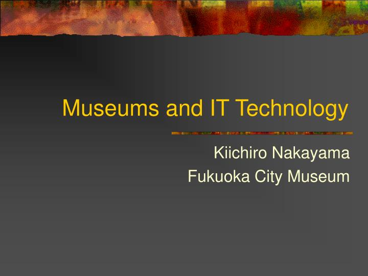 museums and it technology n.