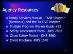 agency resources