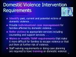 domestic violence intervention requirements