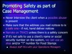 promoting safety as part of case management