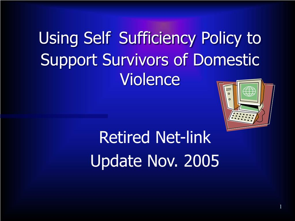 using self sufficiency policy to support survivors of domestic violence l.