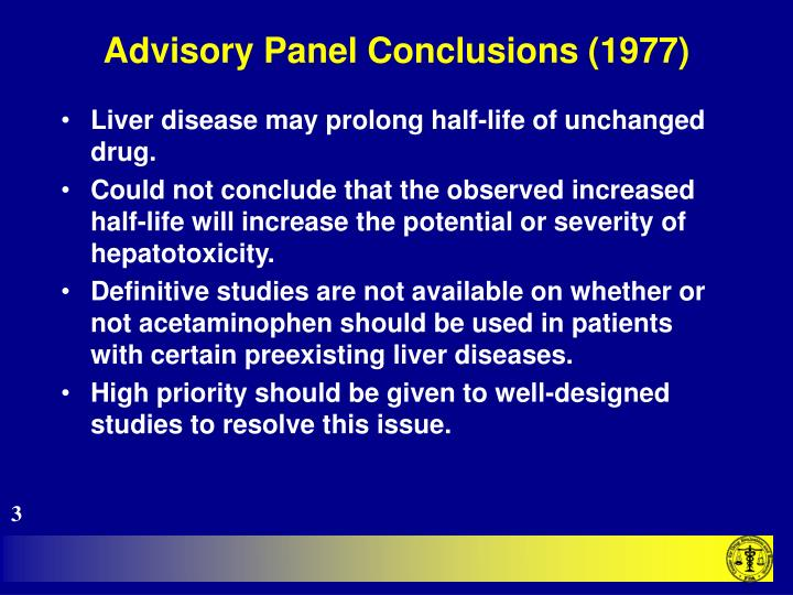Advisory panel conclusions 19773