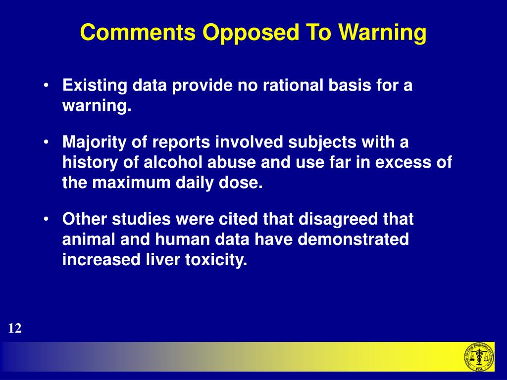Comments Opposed To Warning