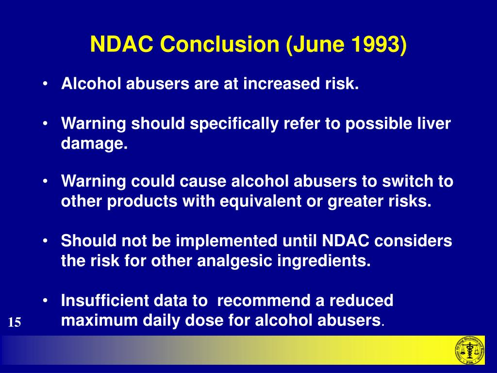 NDAC Conclusion (June 1993)