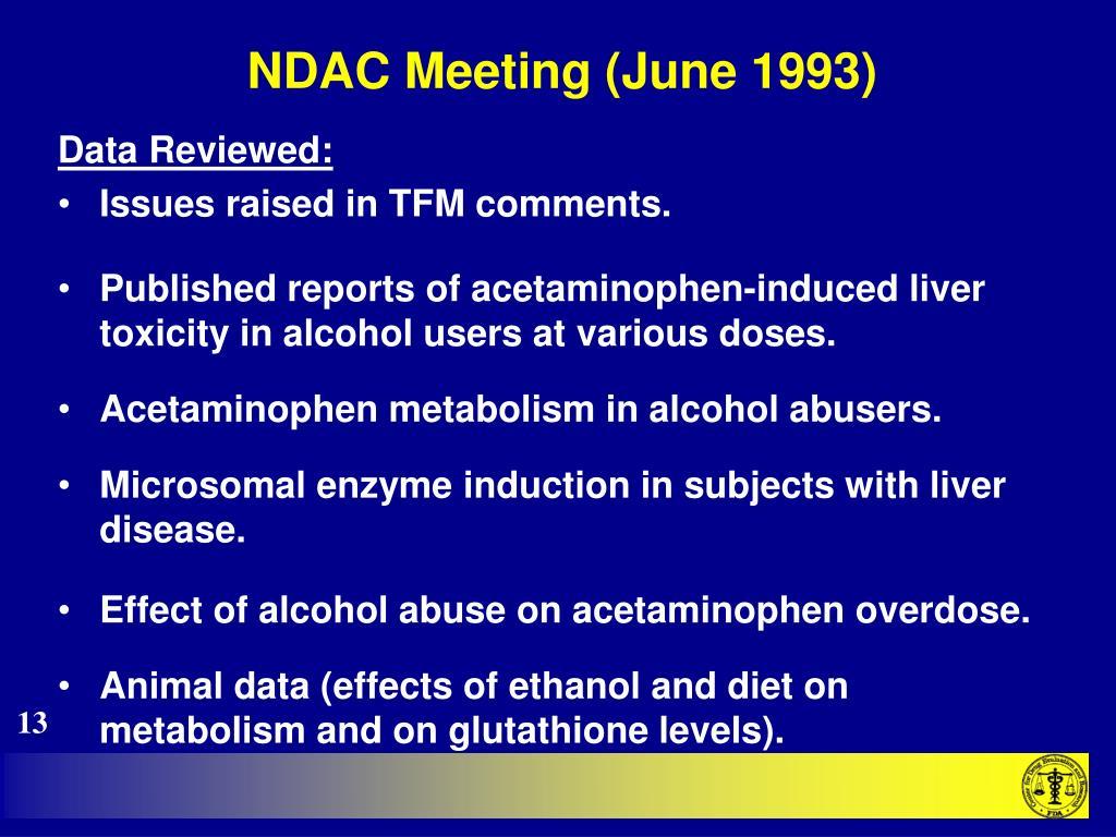 NDAC Meeting (June 1993)
