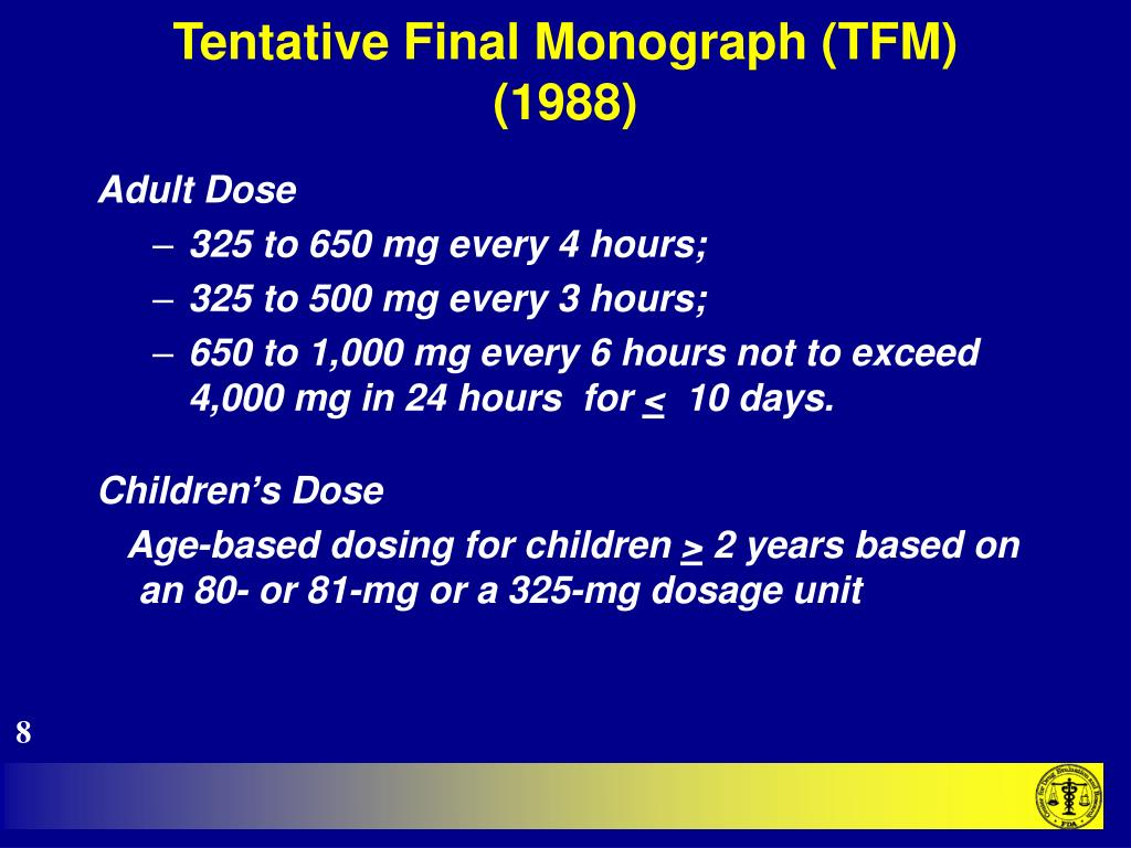 Tentative Final Monograph (TFM) (1988)