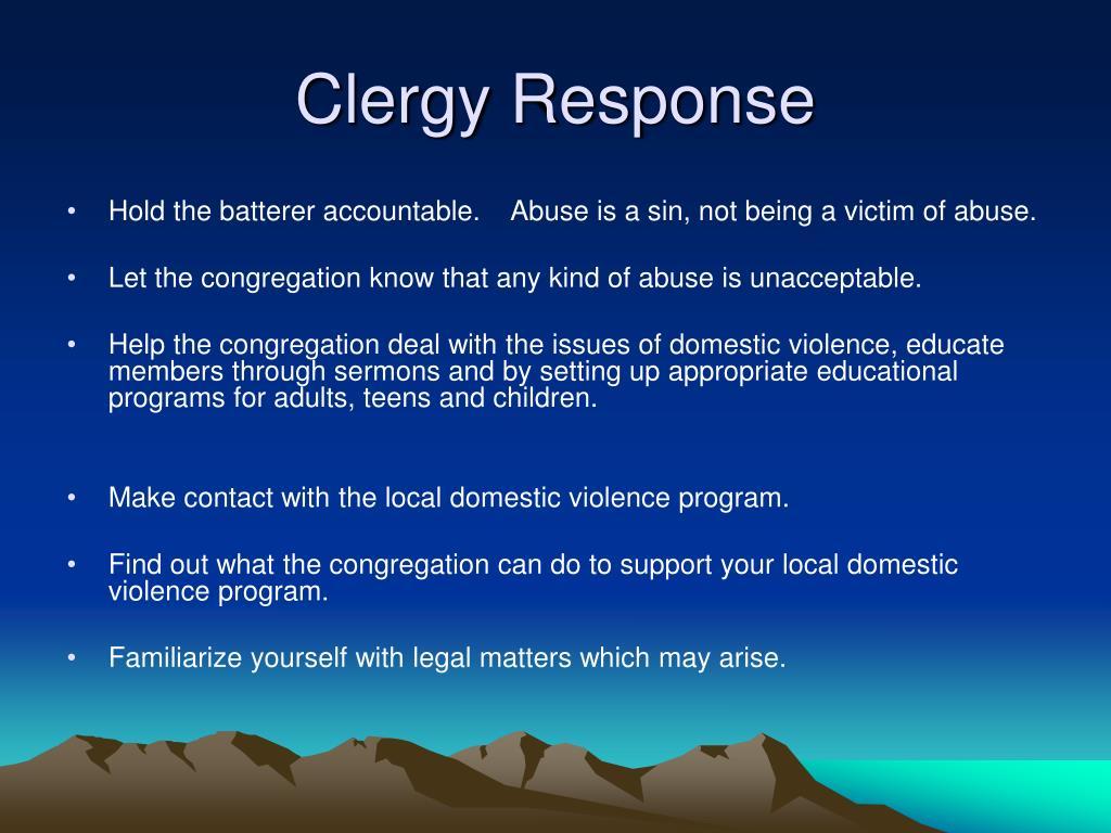 Clergy Response