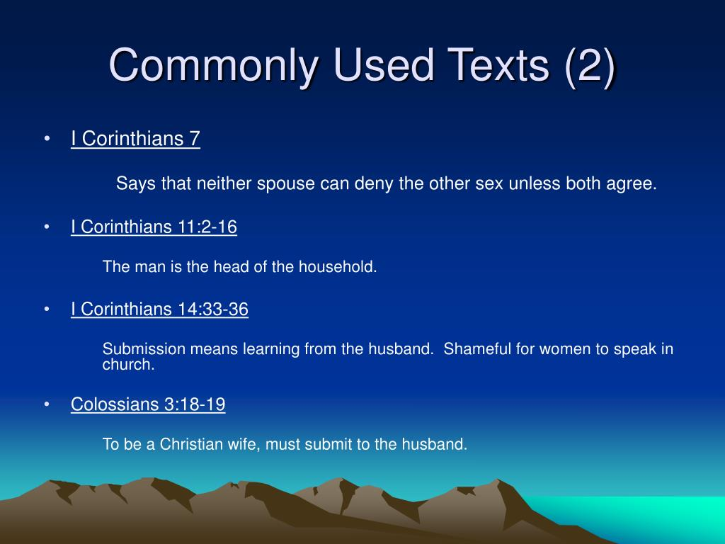 Commonly Used Texts (2)