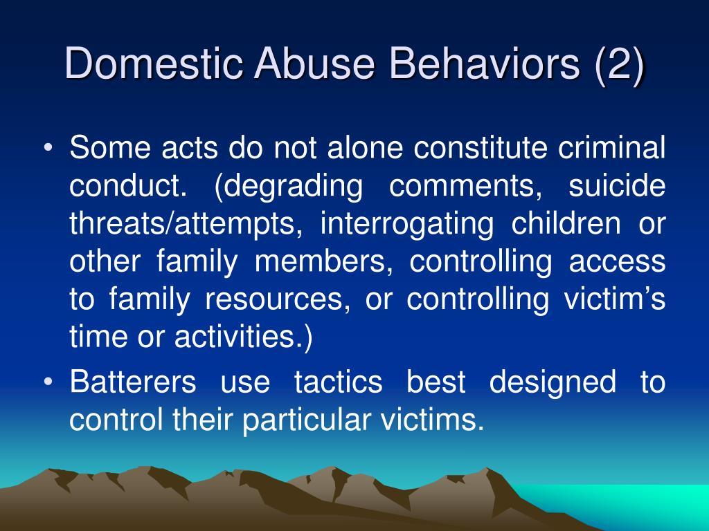 Domestic Abuse Behaviors (2)