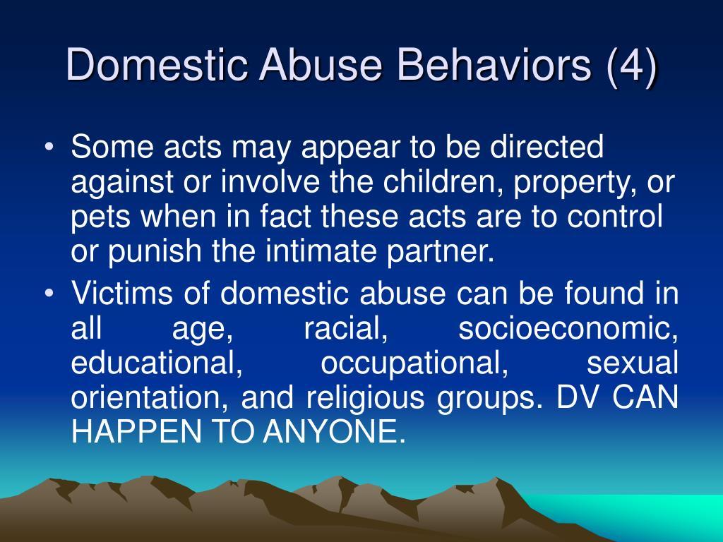 Domestic Abuse Behaviors (4)