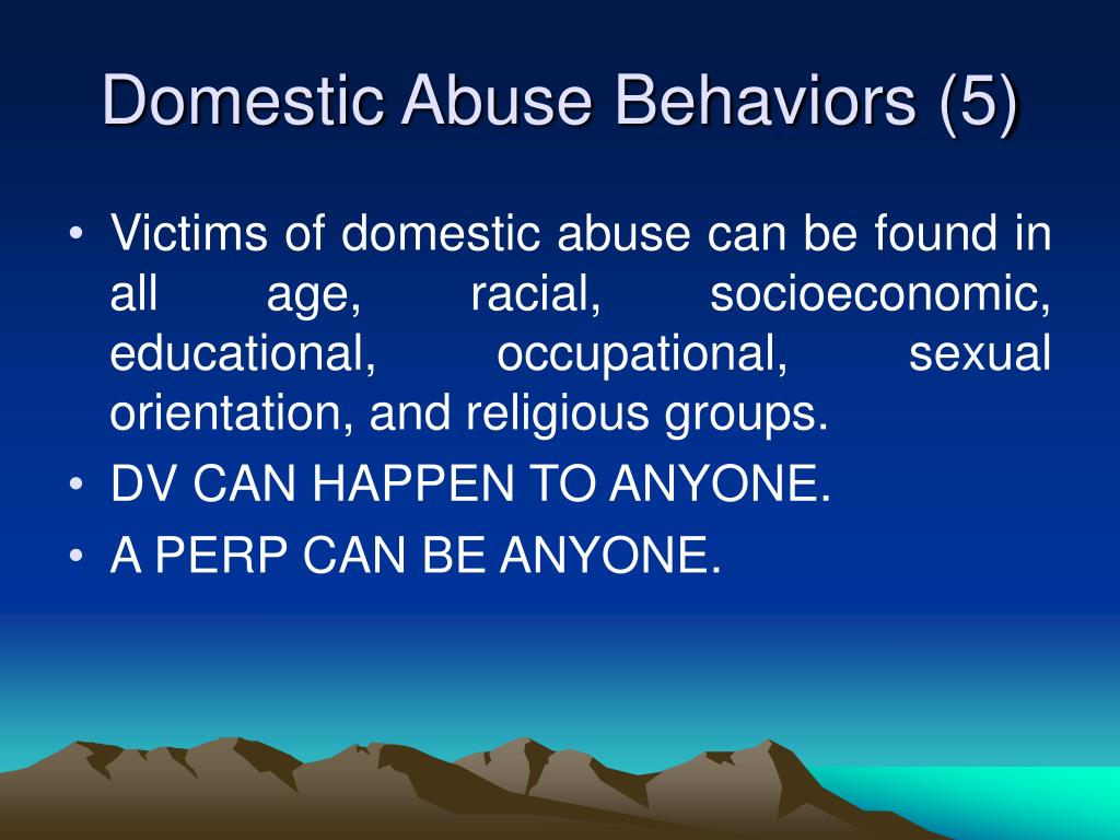 Domestic Abuse Behaviors (5)
