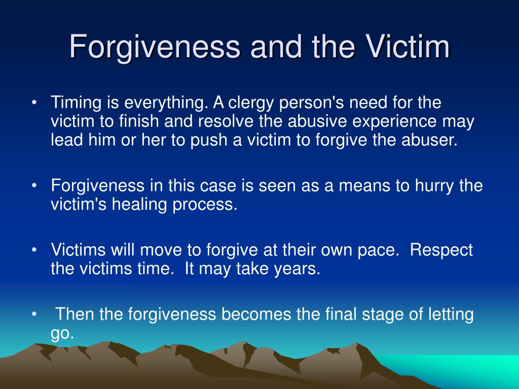 Forgiveness and the Victim
