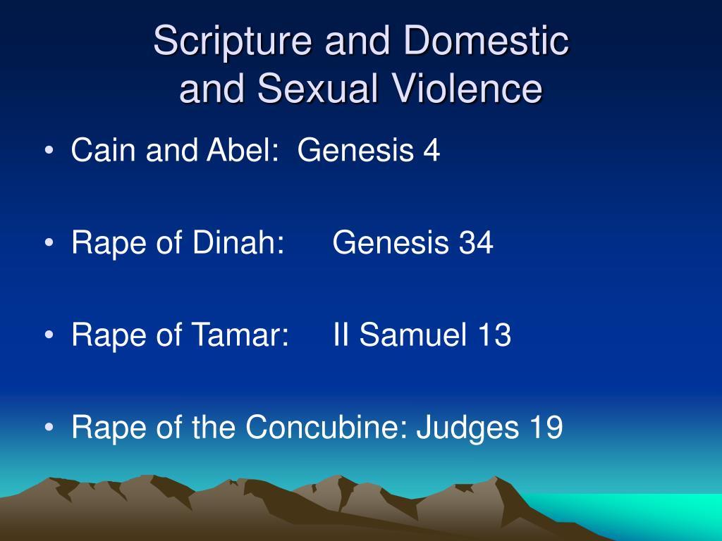 Scripture and Domestic