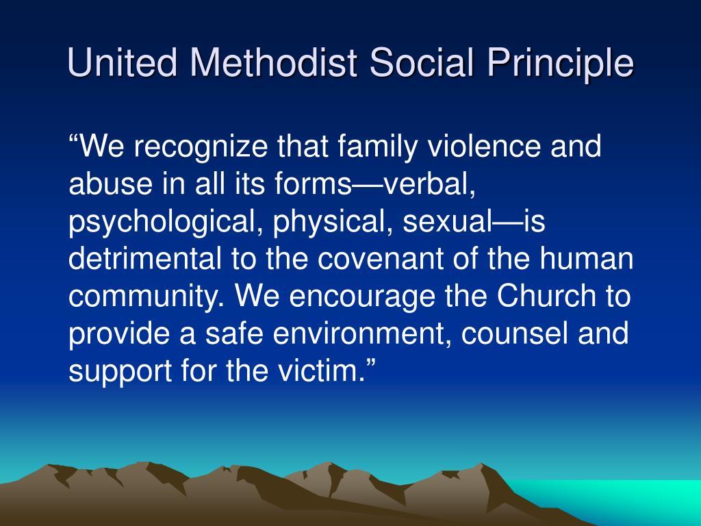 United Methodist Social Principle