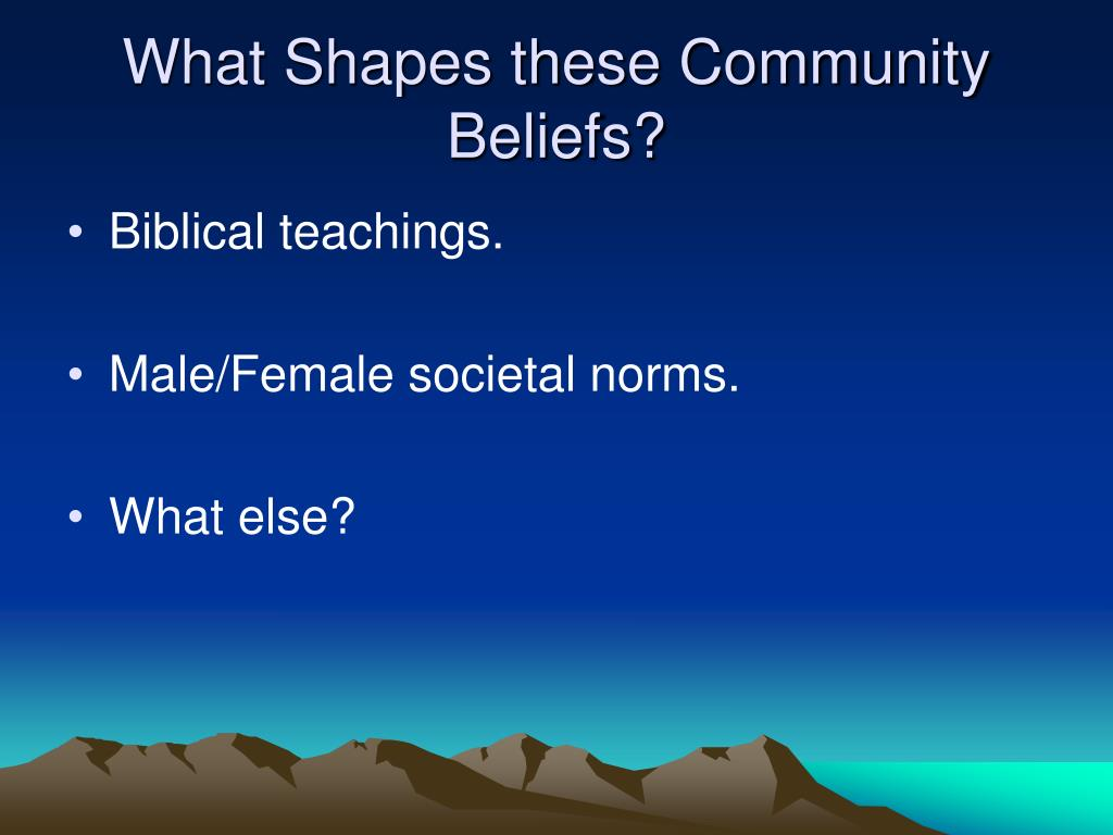 What Shapes these Community Beliefs?