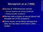 wonderlich et al 1996