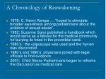 a chronology of reawakening