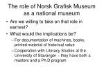 the role of norsk grafisk museum as a national museum