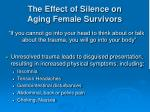 the effect of silence on aging female survivors