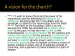 a vision for the church