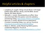 helpful articles chapters