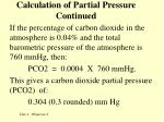calculation of partial pressure continued8