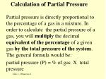 calculation of partial pressure