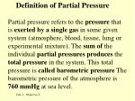 definition of partial pressure