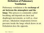 definition of pulmonary ventilation