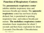 function of respiratory centers