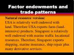 factor endowments and trade patterns
