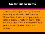 factor endowments
