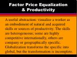factor price equalization productivity