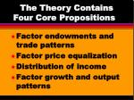 the theory contains four core propositions