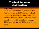 trade income distribution