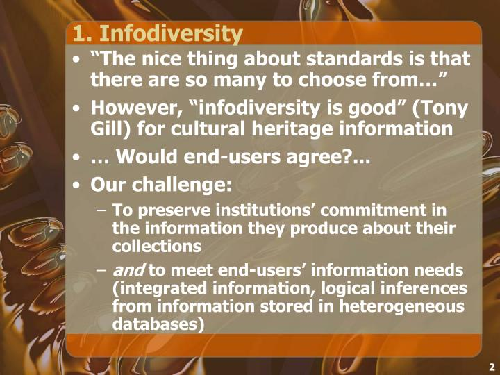 1 infodiversity