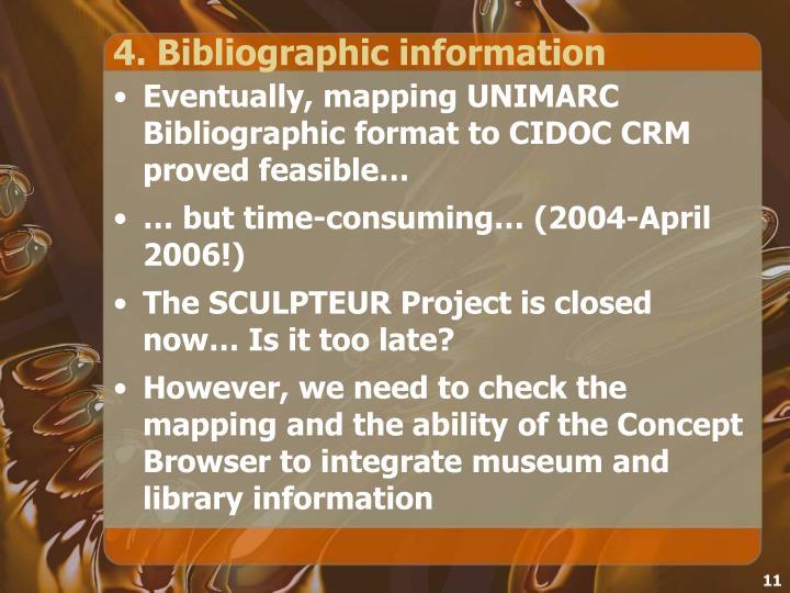 4. Bibliographic information