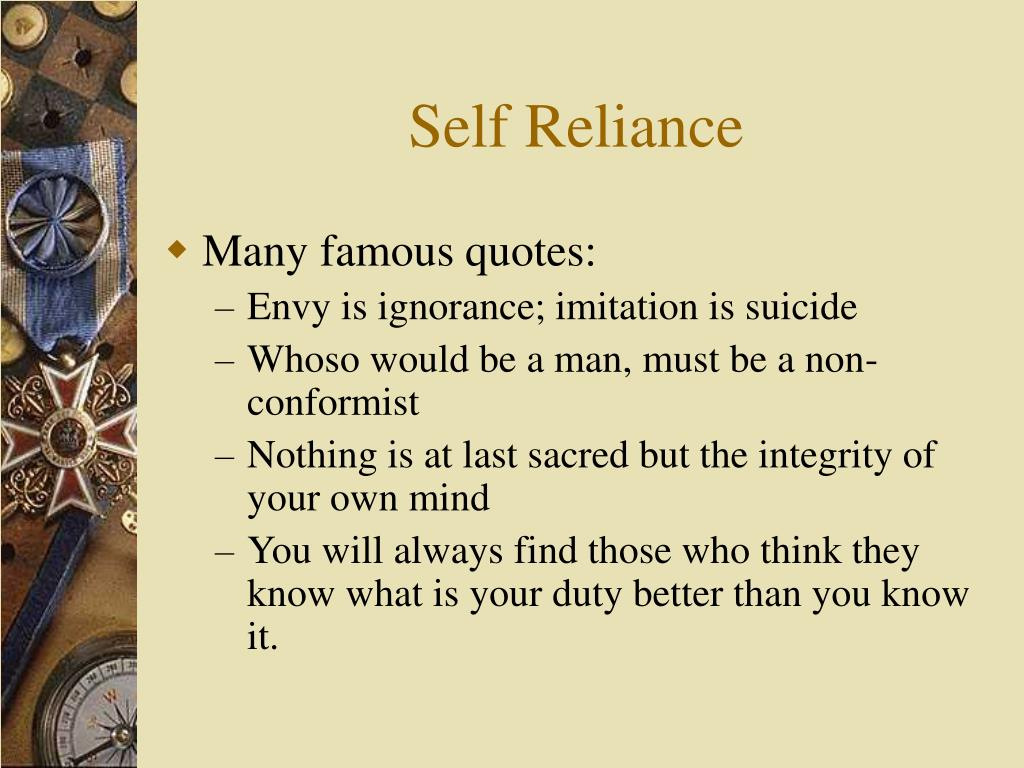 self reliance Redefining the classic essay, this modern edition of ralph waldo emerson's most famous work, self-reliance interesting finds updated daily amazon try.