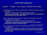 comment traduire