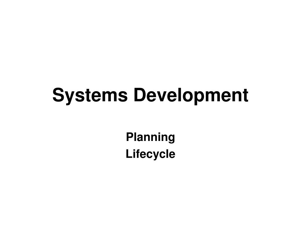 systems development l.