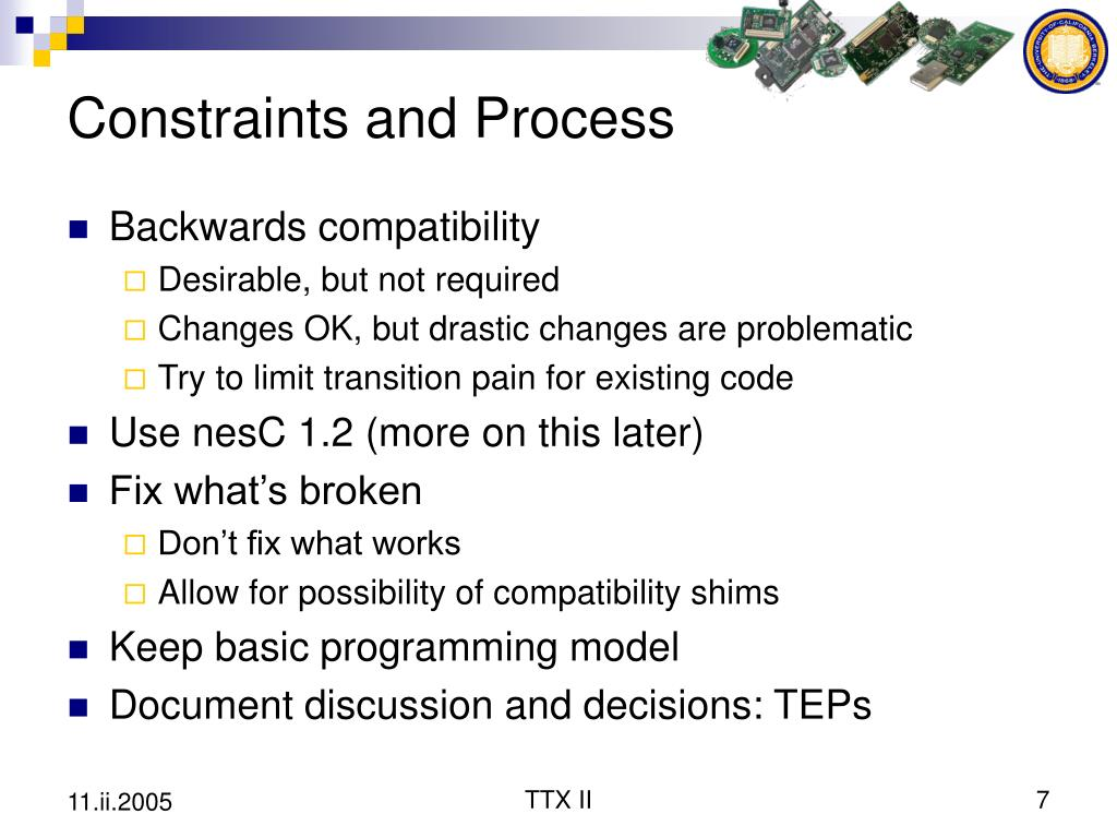 Constraints and Process