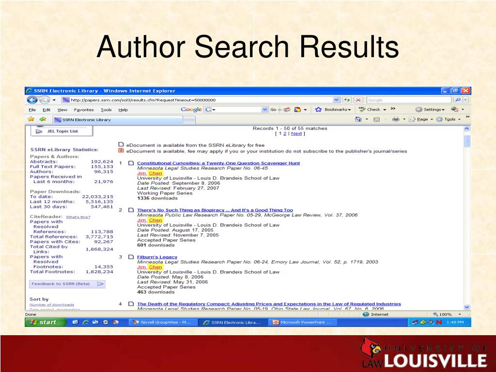 Author Search Results
